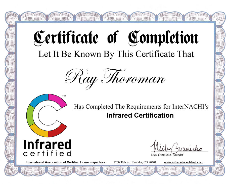 Miami-Dade FL Infrared Certified Building Inspector